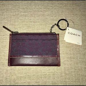 NWT - Coach card holder keychain